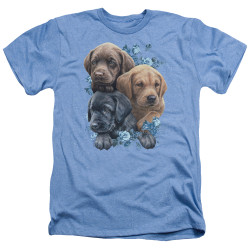 Image for Wild Wings Collection Heather T-Shirt - Puppy Pile