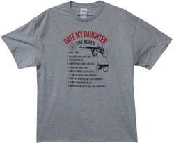 Image for Date My Daughter the Rules T-Shirt