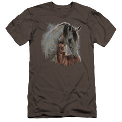 Image for Wild Wings Collection Premium Canvas Premium Shirt - Painted Horses
