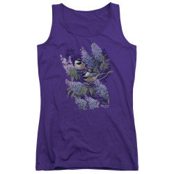 Image for Wild Wings Collection Girls Tank Top - Chickadees and Lilacs