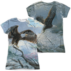 Image for Wild Wings Collection Girls Sublimated T-Shirt - American Eagle