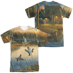 Image for Wild Wings Collection Sublimated T-Shirt - Ducks Over Water 100% polyester