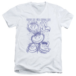 Image for Where the Wild Things Are V Neck T-Shirt - Wild Sketch