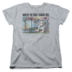 Image for Where the Wild Things Are Womans T-Shirt - Cover Art