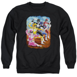 Image for Mighty Morphin Power Rangers Crewneck - Impressionist Rangers