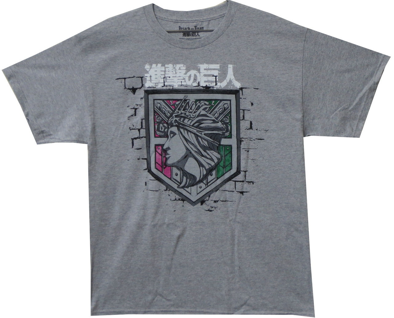 cdf37182 Attack on Titan T-Shirt - Wall Rose Logo - NerdKungFu