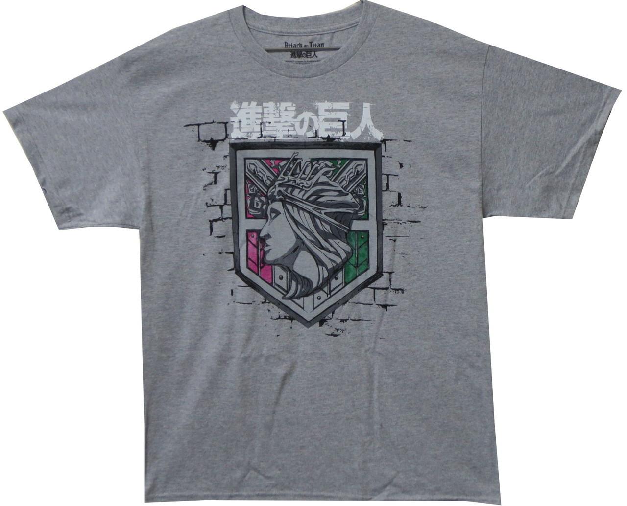 d7a283ca2 Attack on Titan T-Shirt - Wall Rose Logo - NerdKungFu