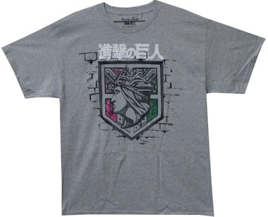 Image for Attack on Titan T-Shirt - Wall Rose Logo