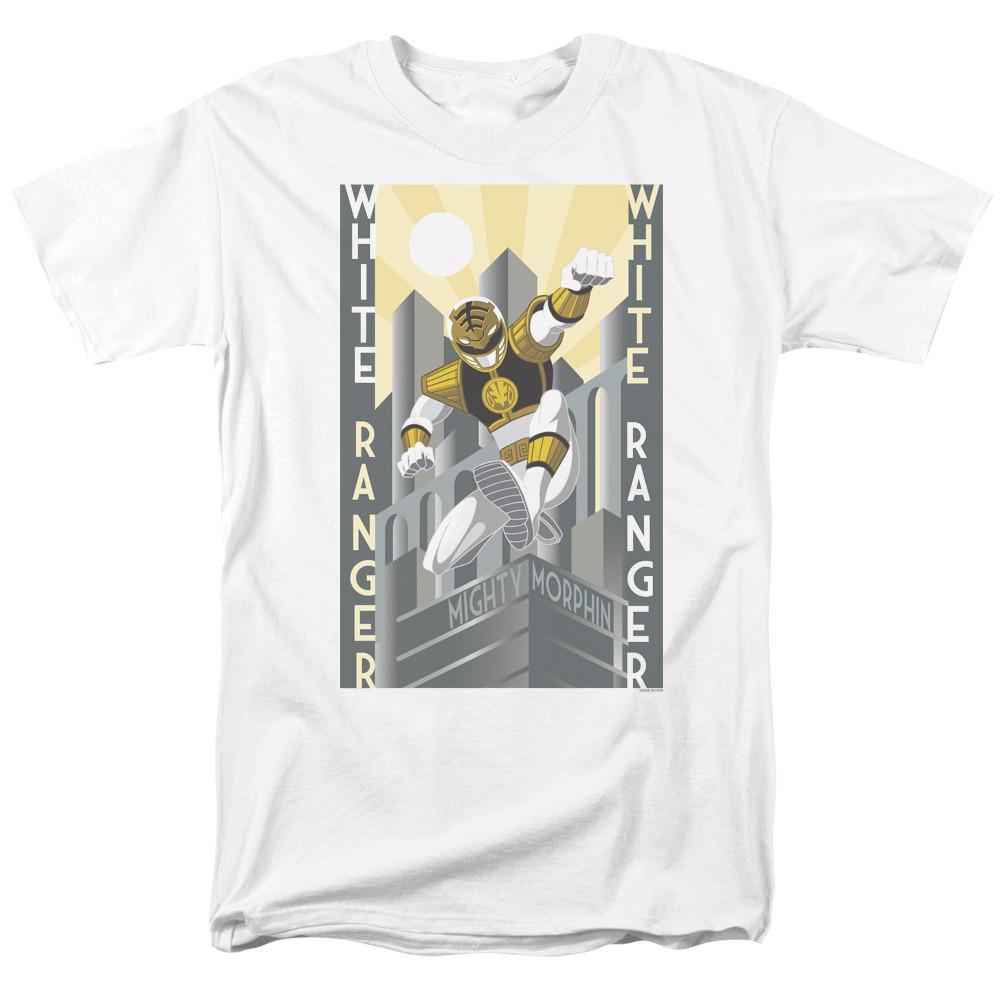Mighty Morphin Power Rangers T-Shirt - White Ranger Duo