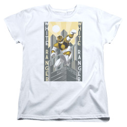 Image for Mighty Morphin Power Rangers Womans T-Shirt - White Ranger Duo