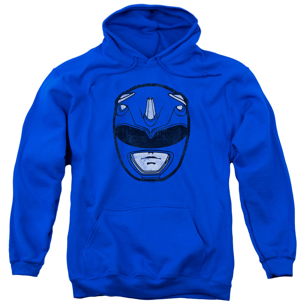 Mighty Morphin Power Rangers Hoodie Blue Ranger Mask Nerdkungfu