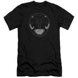 Image for Mighty Morphin Power Rangers Premium Canvas Premium Shirt - Black Ranger Mask