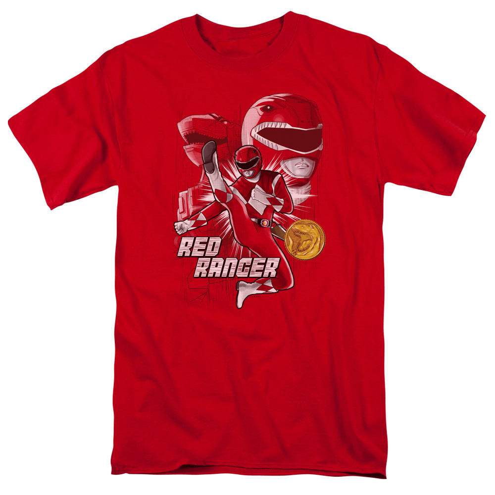 b3790b5433b Mighty Morphin Power Rangers T-Shirt - Red Ranger - NerdKungFu
