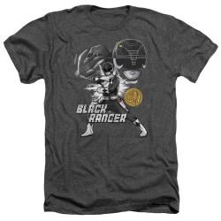 Image for Mighty Morphin Power Rangers Heather T-Shirt - Black Ranger