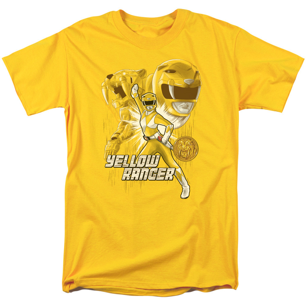 7a2d9bd41b7 Mighty Morphin Power Rangers T-Shirt - Yellow Ranger - NerdKungFu