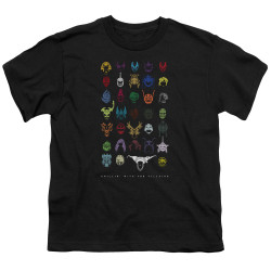 Image for Mighty Morphin Power Rangers Youth T-Shirt - Villains