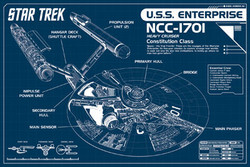 Image for Star Trek Poster - Enterprise Blueprints