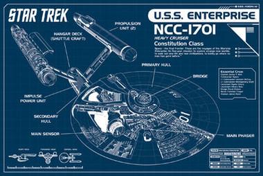 Image for Star Trek Poster - Enterprise Blueprints