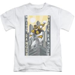 Image for Power Rangers Kids T-Shirt - White Ranger Duo