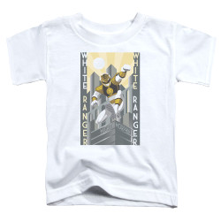 Image for Power Rangers Toddler T-Shirt - White Ranger Duo