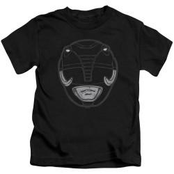 Image for Power Rangers Kids T-Shirt - Black Ranger Mask