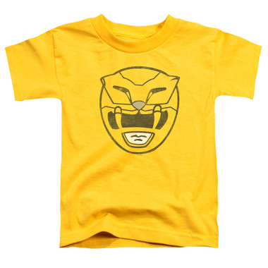 Image for Power Rangers Toddler T-Shirt - Yellow Power Mask