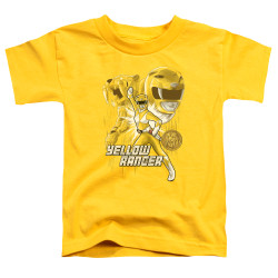Image for Power Rangers Toddler T-Shirt - Yellow Ranger