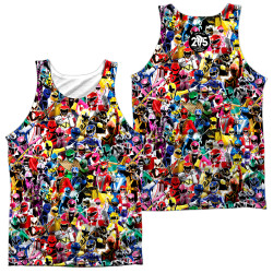 Image for Mighty Morphin Power Rangers Sublimated Tank Top - Crowd of Rangers