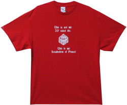 This is Not My 20 Sided Die Red T Shirt