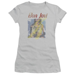 Image for Bon Jovi Girls T-Shirt - Slippery When Wet Girl