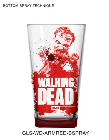 Image for The Walking Dead Pint Glass - Red Dead Walker