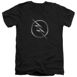 Image for The Flash TV V-Neck T-Shirt - Zoom Logo
