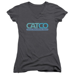 Image for Supergirl Girls V Neck T-Shirt - Catco Logo