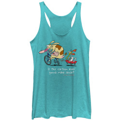 Image for Cow and Chicken Womens Tank Top - Show Makes No Sense