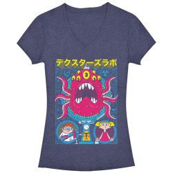 Image for Dexters Laboratory Girls Heather V Neck - Tentacle Poster Chogrin