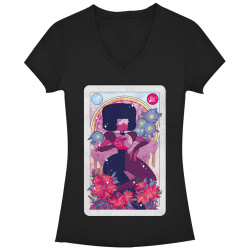 Image for Steven Universe Girls V Neck - Garnet Card
