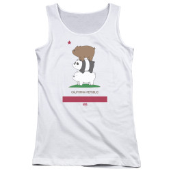 Image for We Bare Bears Girls Tank Top - Cali Stack