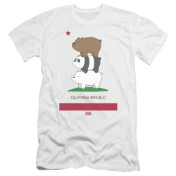 Image for We Bare Bears Premium Canvas Premium Shirt - Cali Stack