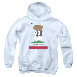 Image for We Bare Bears Youth Hoodie - Cali Stack
