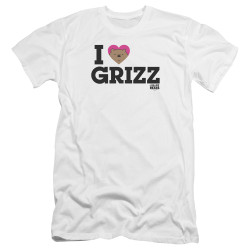 Image for We Bare Bears Premium Canvas Premium Shirt - I Heart Grizz