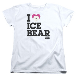Image for We Bare Bears Womans T-Shirt - I Heart Ice Bear