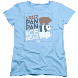 Image for We Bare Bears Womans T-Shirt - Pan Pan Ice Bear
