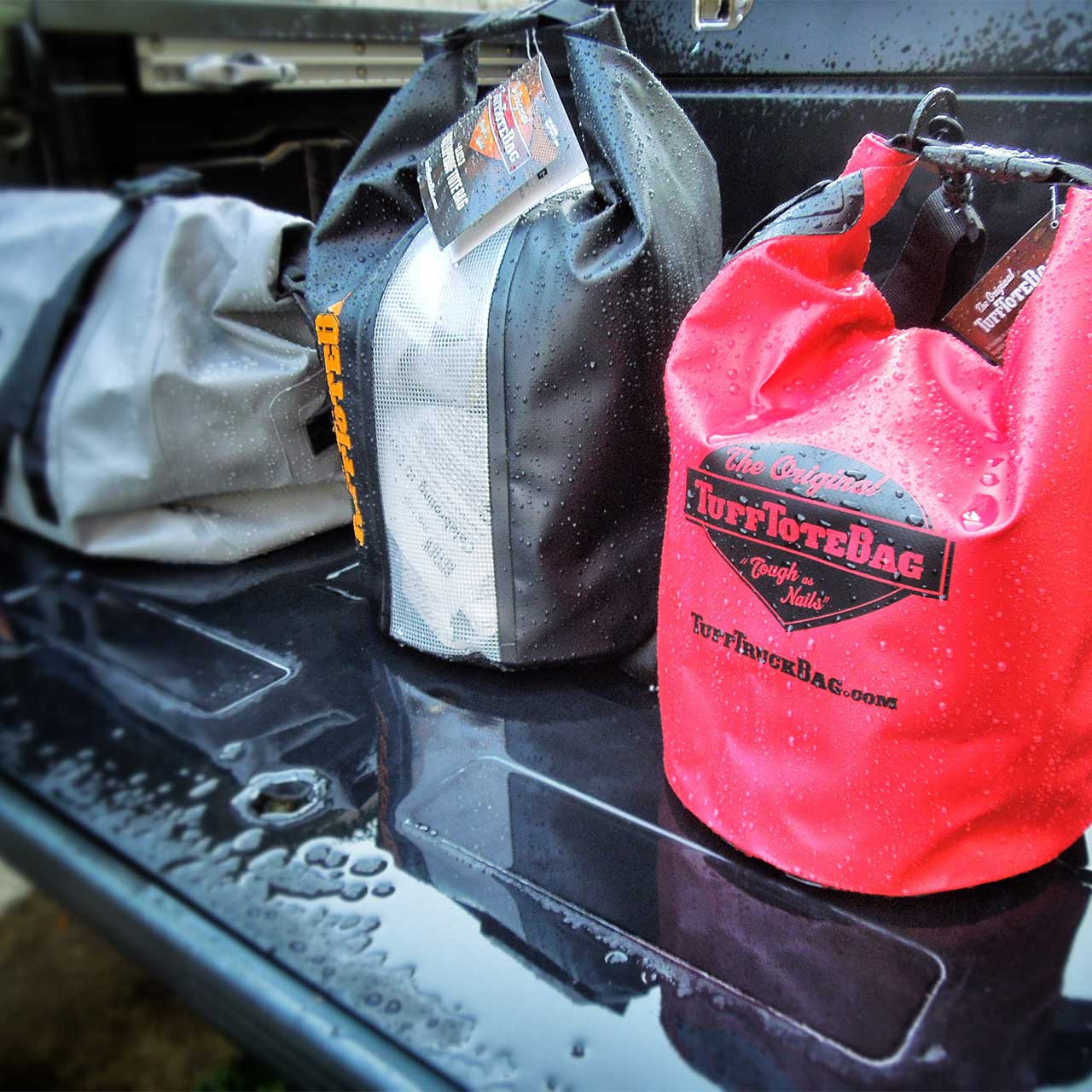 Collection of class three waterproof Tuff Tote bags