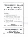 MFJ-3211 QUICK STUDY GUIDE - TECHNICIAN CLASS