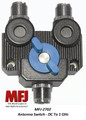 MFJ-2702, Antenna Switch, 2 Position, DC - 1 GHz, 2 KW