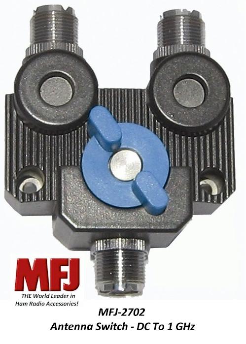 MFJ-2702, Antenna Switch, 2 Position, DC - 1 GHz, 2 KW