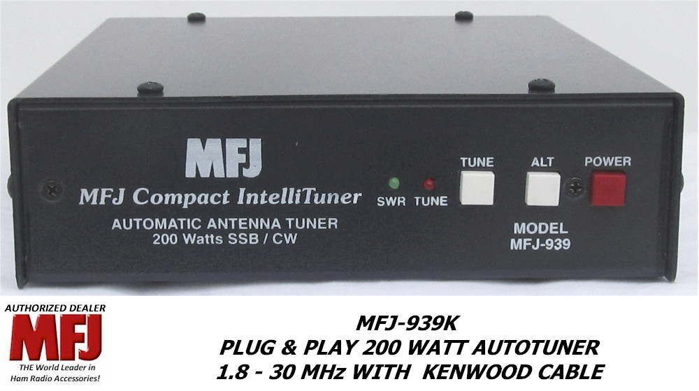 MFJ-939K, Plug & Play 200 Watt Autotuner, 1 8 - 30 MHz WITH KENWOOD CABLE