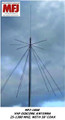 MFJ-1868 VHF DISCONE ANTENNA 25-1300 MHZ, WITH 50' COAX PERFECT FOR SCANNERS & SDR