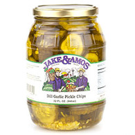 J&A Dill Garlic Pickle Chips - Quart