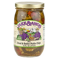 J&A Hot Bread & Butter Pickle Chips - Pint